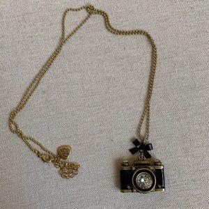 Betsey Johnson Camera Necklace